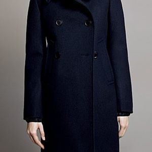 Uniqlo +J Jil Sander Navy Wool Pea Coat